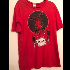 """Marvel Spider-Man """"Tacos?"""" Graphic T-Shirt size XL"""
